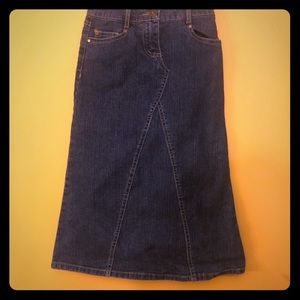 Other - Never been worn long denim skirt. Girls size 7
